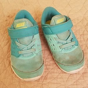 Turquoise Nike sneakers